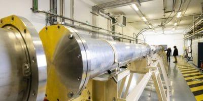 Salle d'expériences Neutrons for Science (NFS) sur l'installation SPIRAL2 au GANIL ©P.Stroppa/CEA